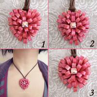 Heart Ribbons Pendant by popnicute