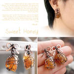 Sweet Honey Ribbon Earrings
