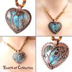 Heart of Catherine Labradorite Pendant by popnicute