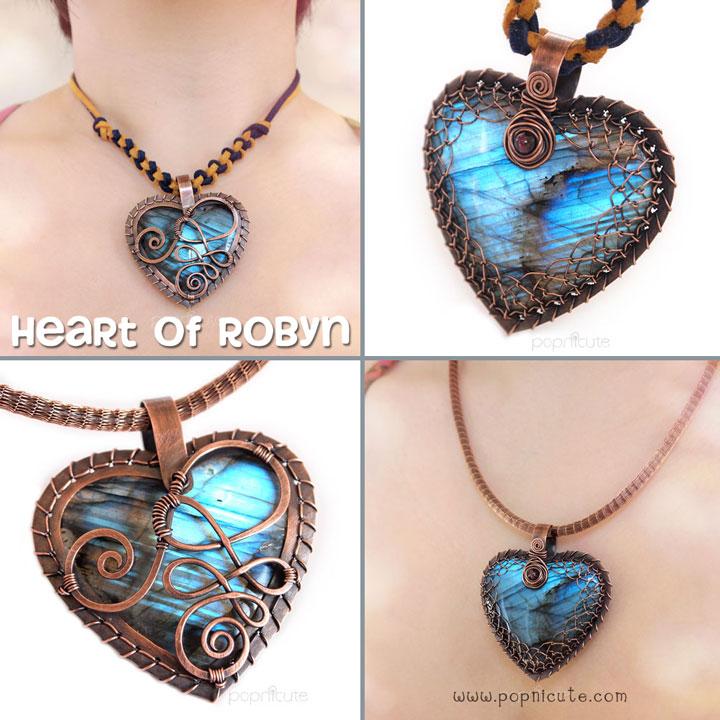 Heart of Robyn Labradorite Heart Pendant by popnicute