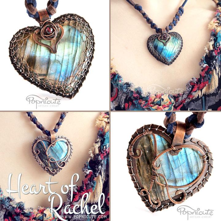 Heart of Rachel Labradorite Pendant by popnicute