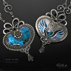 Heart of Meli - Sterling Silver Pendant Necklace
