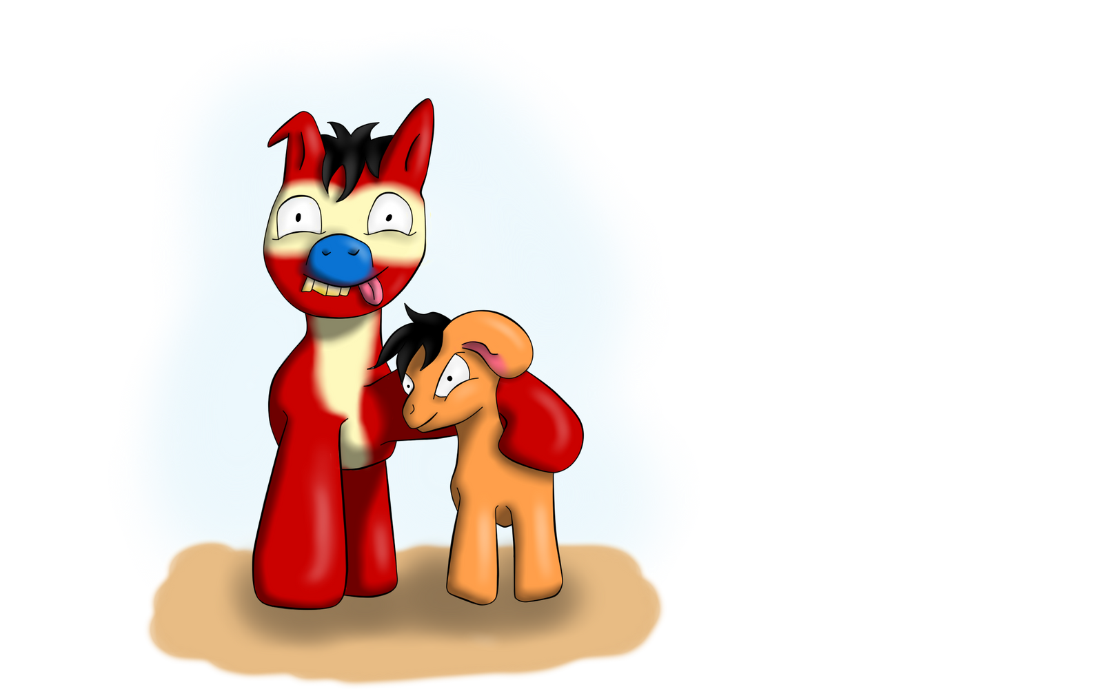 Rene und Stimpy als Pony by PanHaukatze