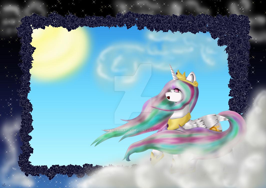 Himmlisches Celestia Pony by PanHaukatze