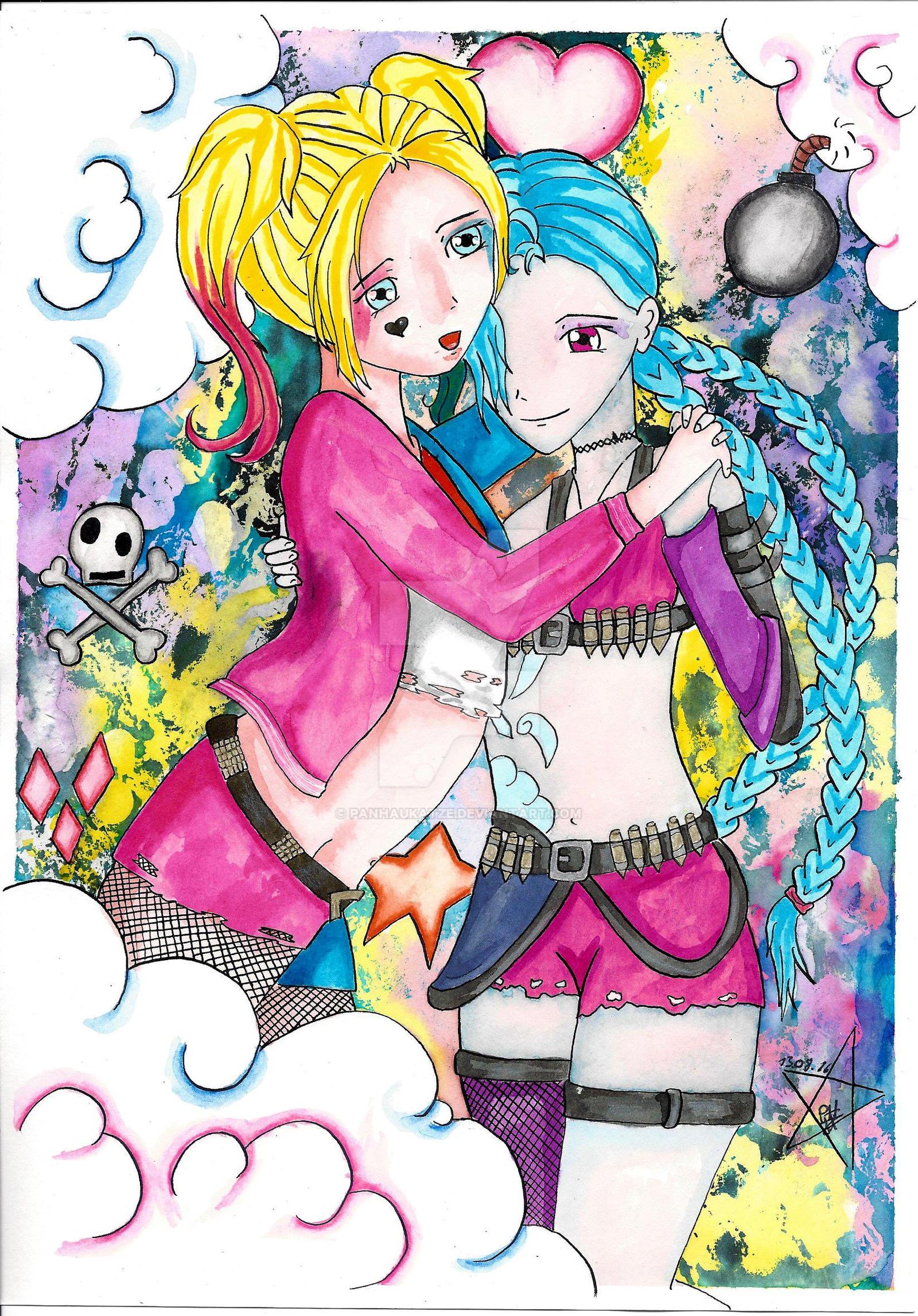 Harley und  jinx by PanHaukatze