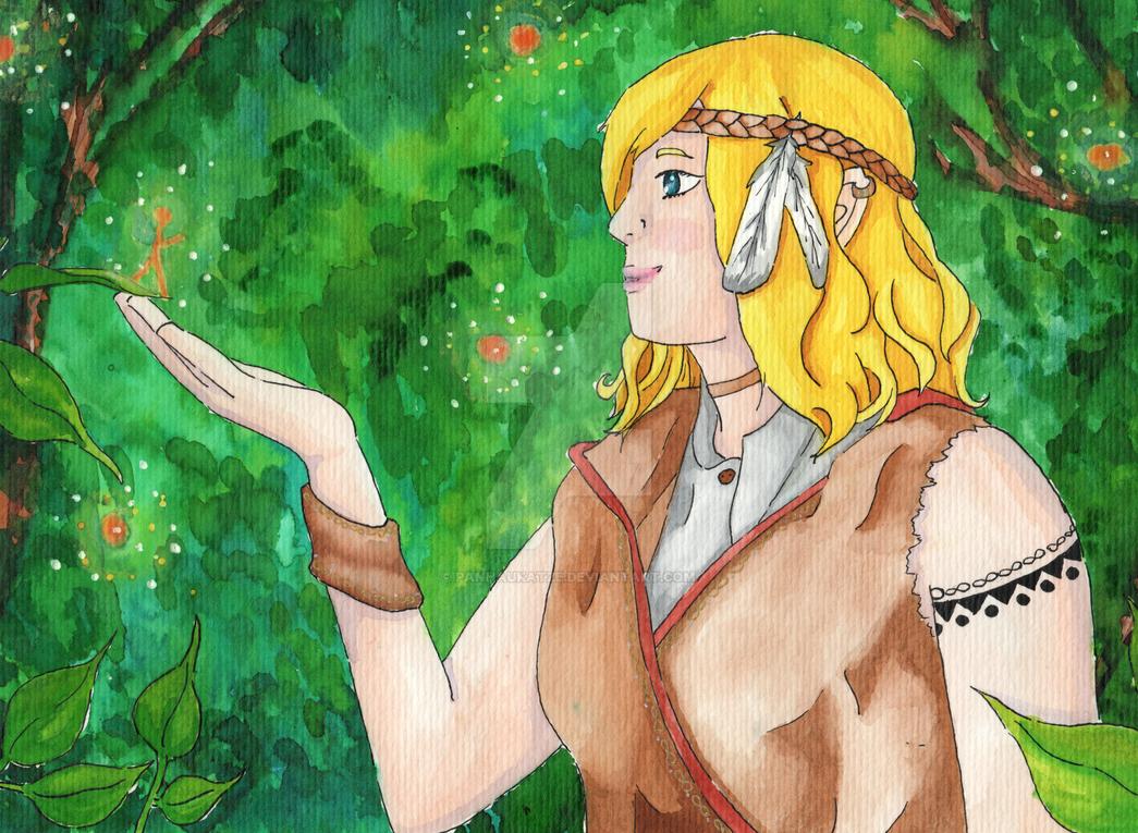 Elfe im Wald by PanHaukatze