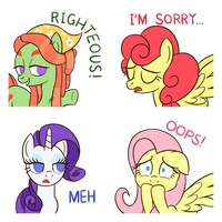Cute Pony Stickers Vol. 2 by SazanamiBD