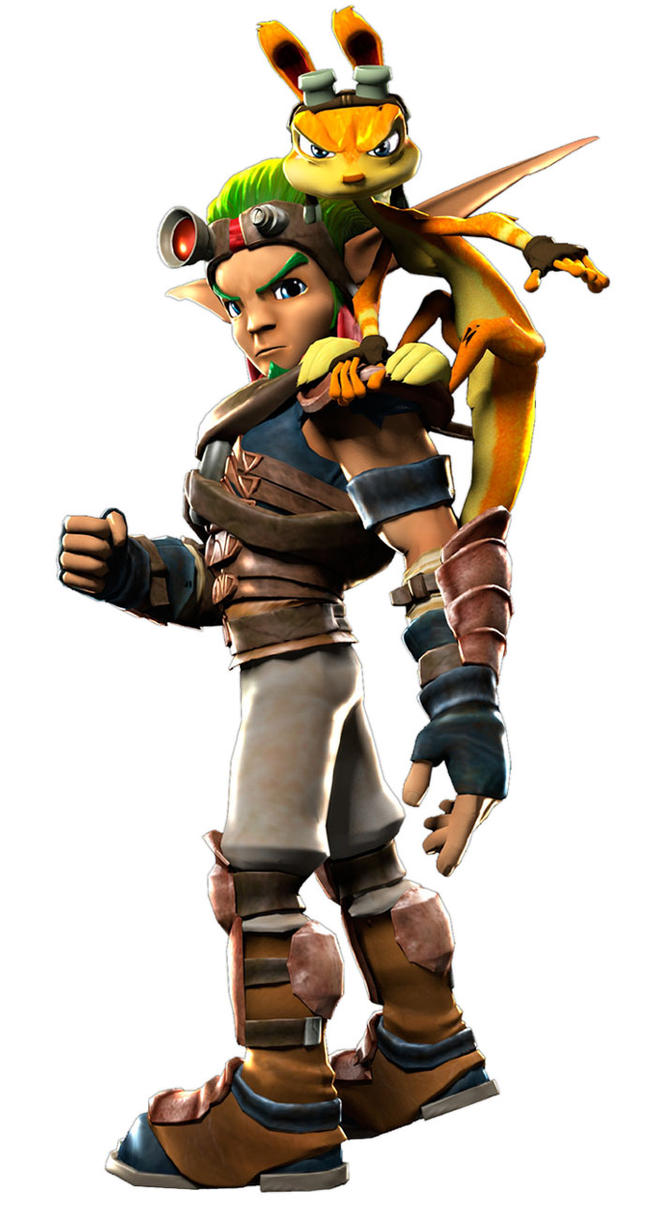Jak and Daxter from PSAS render by Darth-Drago