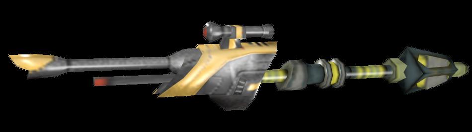 Blaster gunstaff render by Darth-Drago