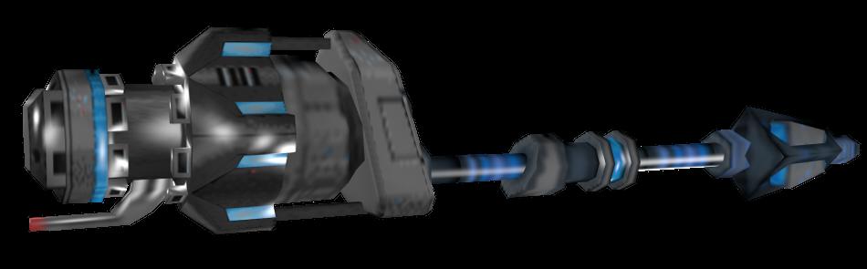 Vulcan Fury gunstaff render by Darth-Drago