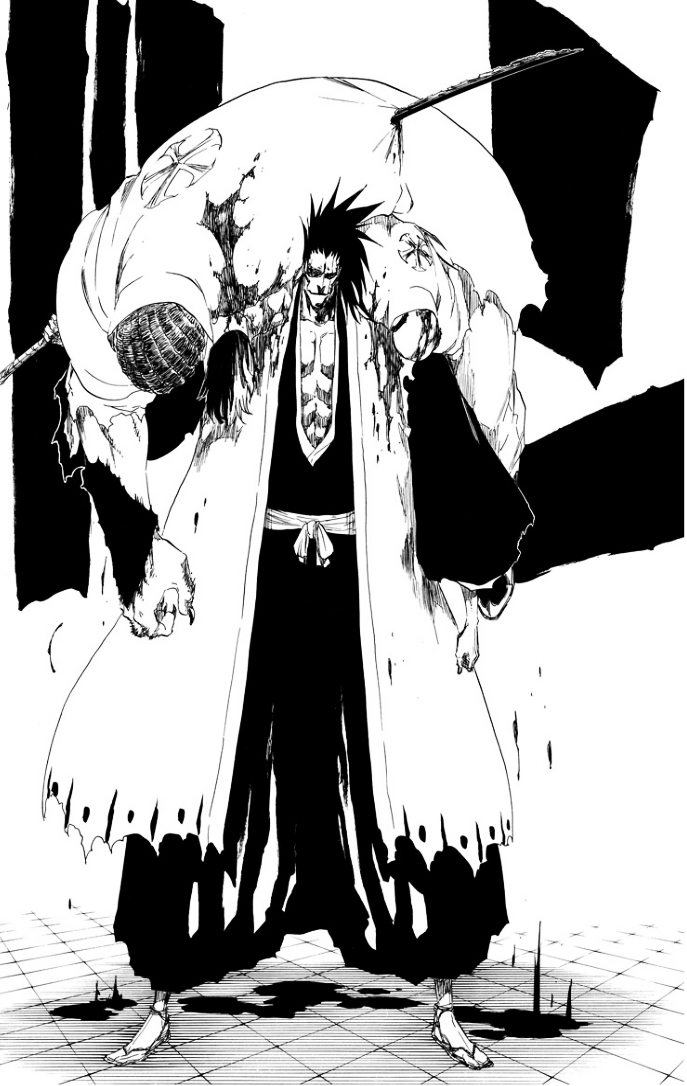 Kenpachi slaughtering by Darth-Drago