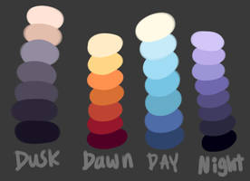 Free Sky Palettes by GreaserDemonDesign