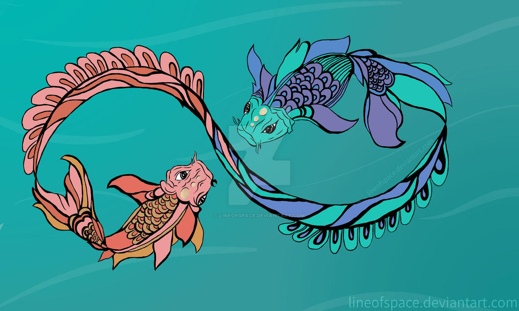 koi fishes by lineofspace