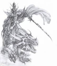 Mounted Dark Elf by MikhailD