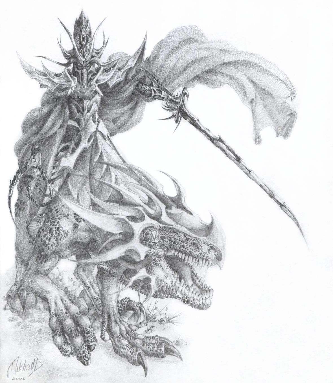 Mounted Dark Elf