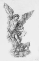 St. Michael defeating devil by MikhailD