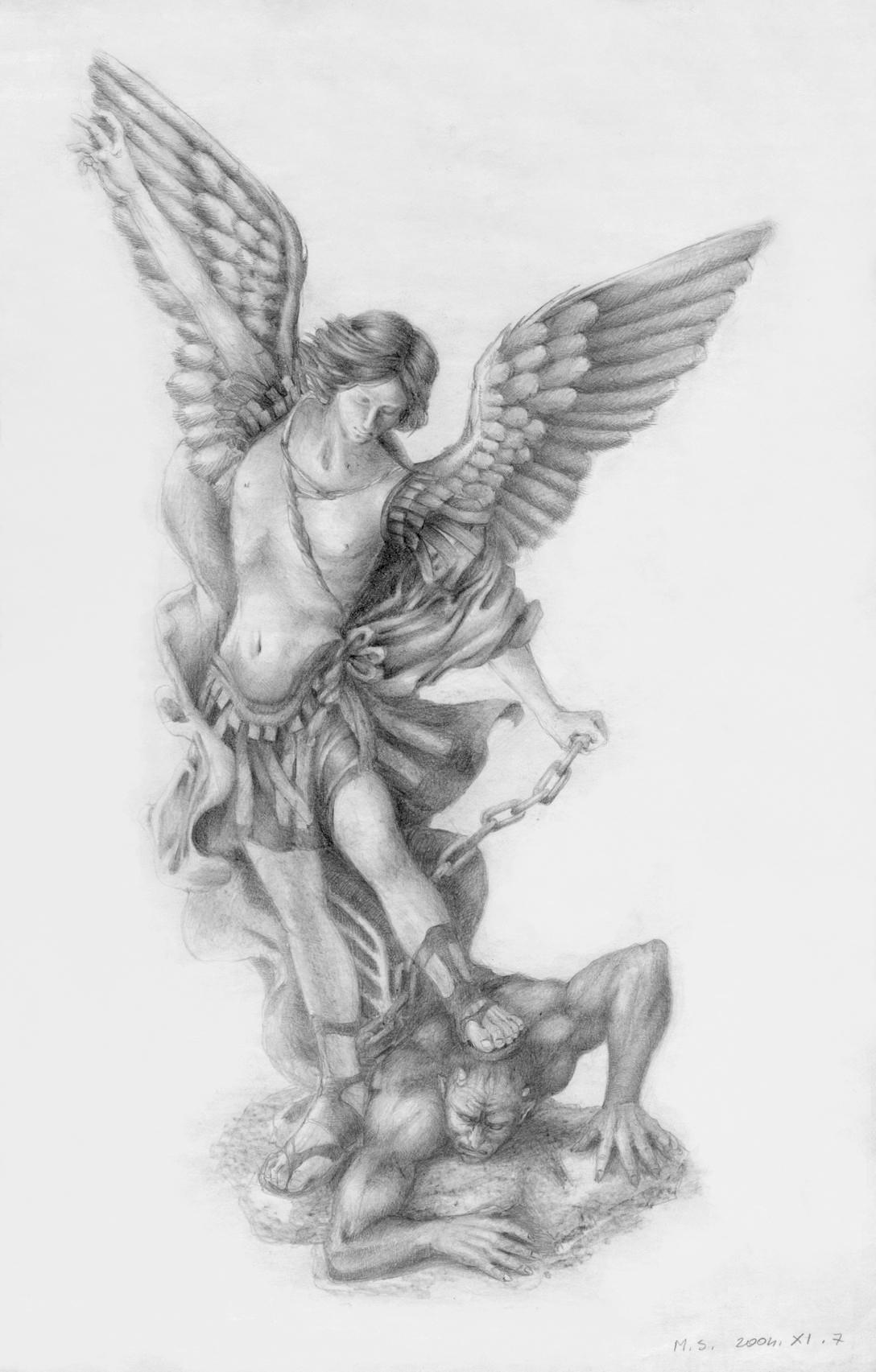 St. Michael defeating devil by MikhailD on DeviantArt