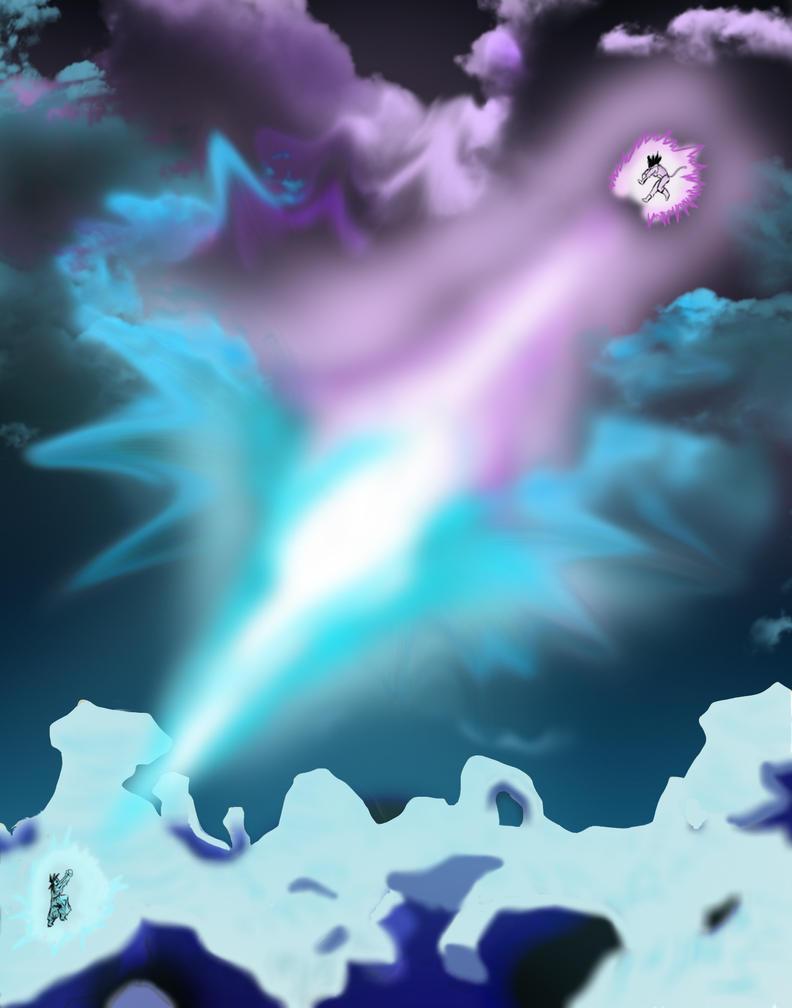 Goku Vs Vegeta By ConnerKonEl Kamehameha Final Flash