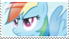 MLP - Rainbow Dash stamp by Zuzzzz