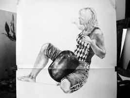 figure drawing by Wichrzyciel