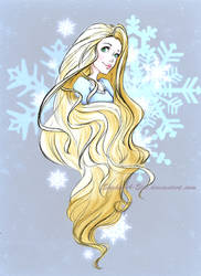 Wintery Rapunzel sketch