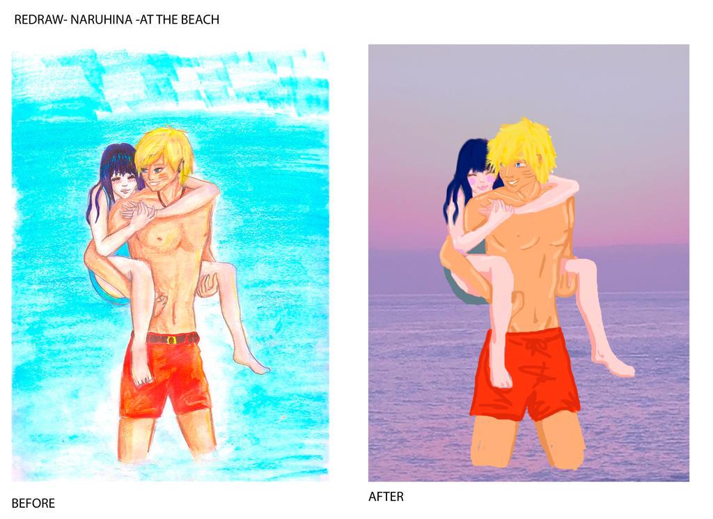 REDRAW- NARUHINA At the beach by Yuzuky