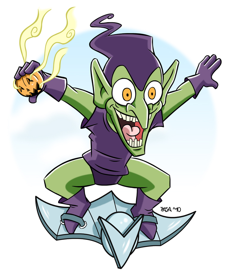 green goblin by pasatheone on deviantart
