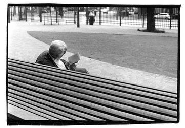 Some old dude reading by Reuno
