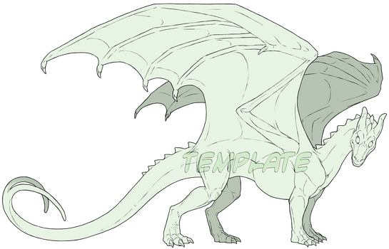 Commission - Pern Dragon Template