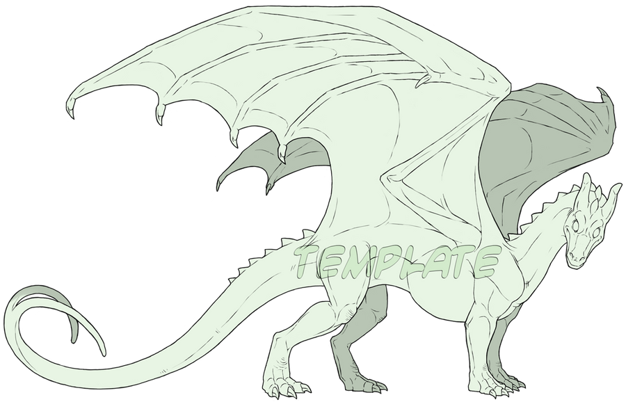 Commission - Pern Dragon Template by SeaSuds on DeviantArt