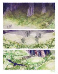 Mushroom cave by La-petit-Marianna
