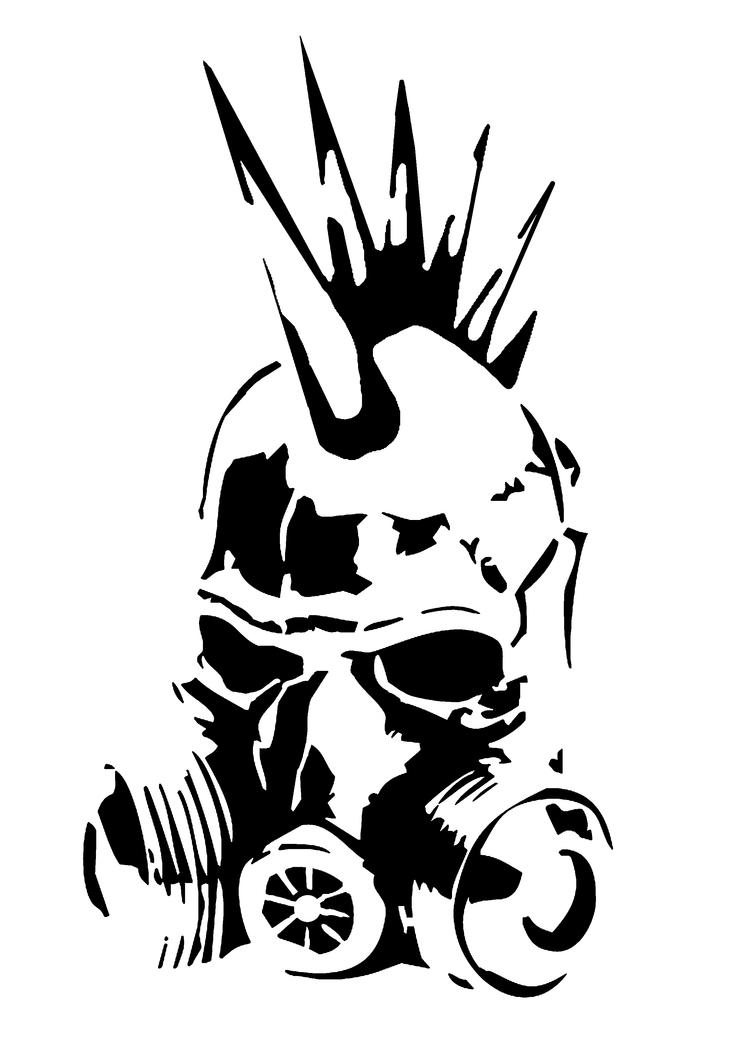 Graffiti Stencils Skull Punk Gas Mask Stencil ...