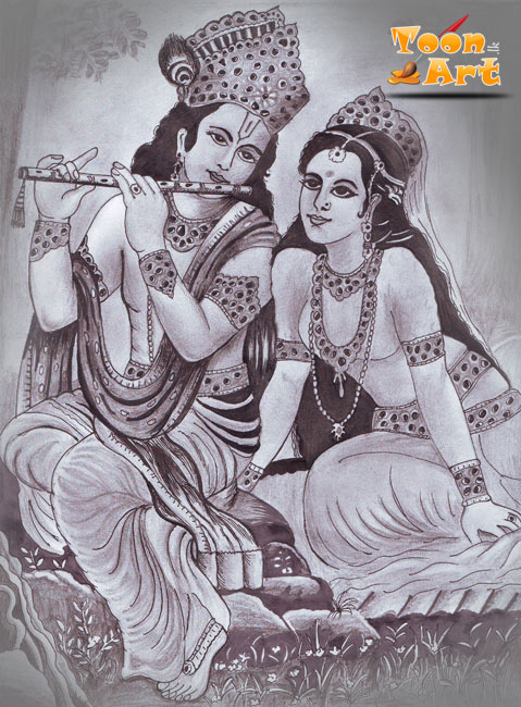 Radha krishna pencil and pen by narmadagamage