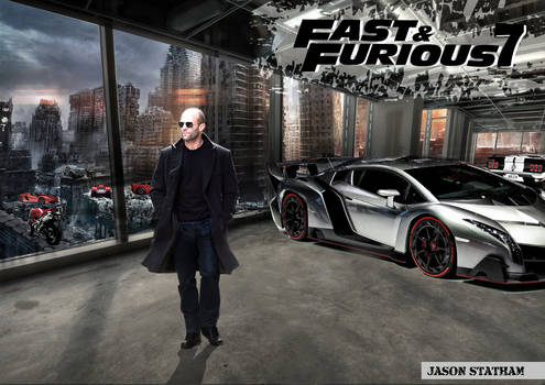 Jason Statham in Fast and Furious 7