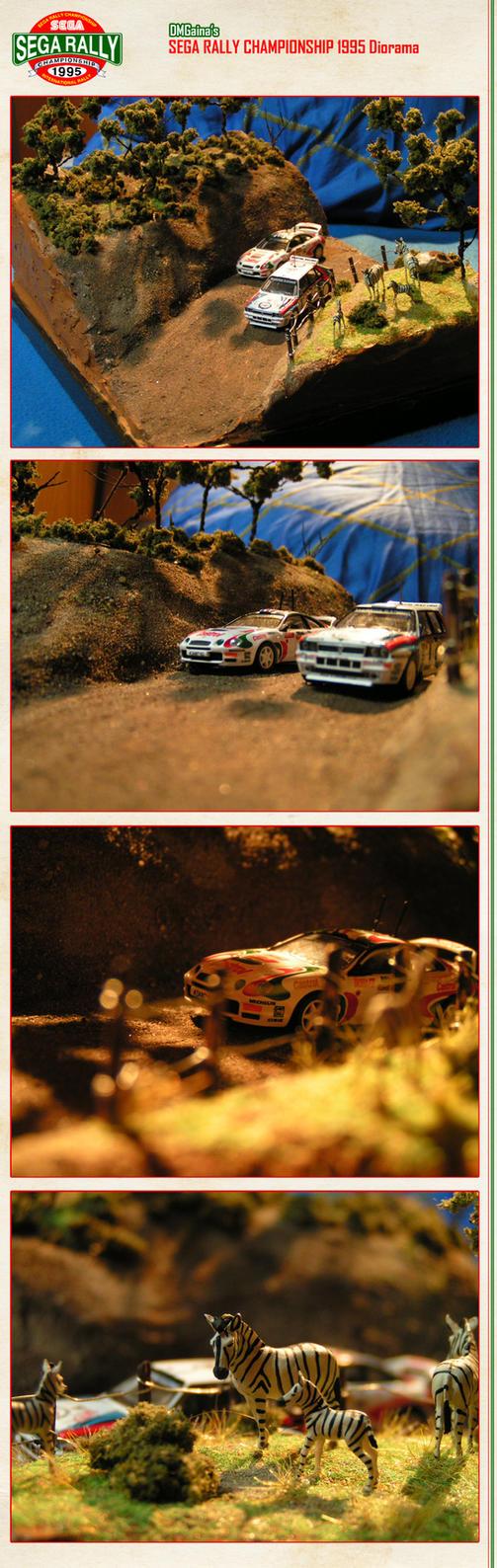 Sega Rally Championship 1995 - Diorama by DMGaina