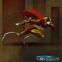 Coretechs Concept Art: Brethren Operator - Level 1 by HueTwo