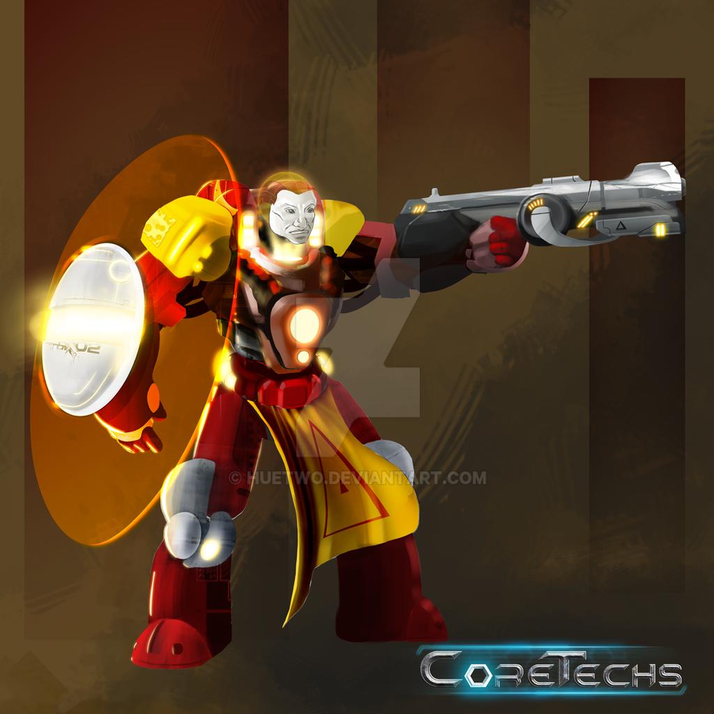 Coretechs Concept Art: Brethren Unit by HueTwo