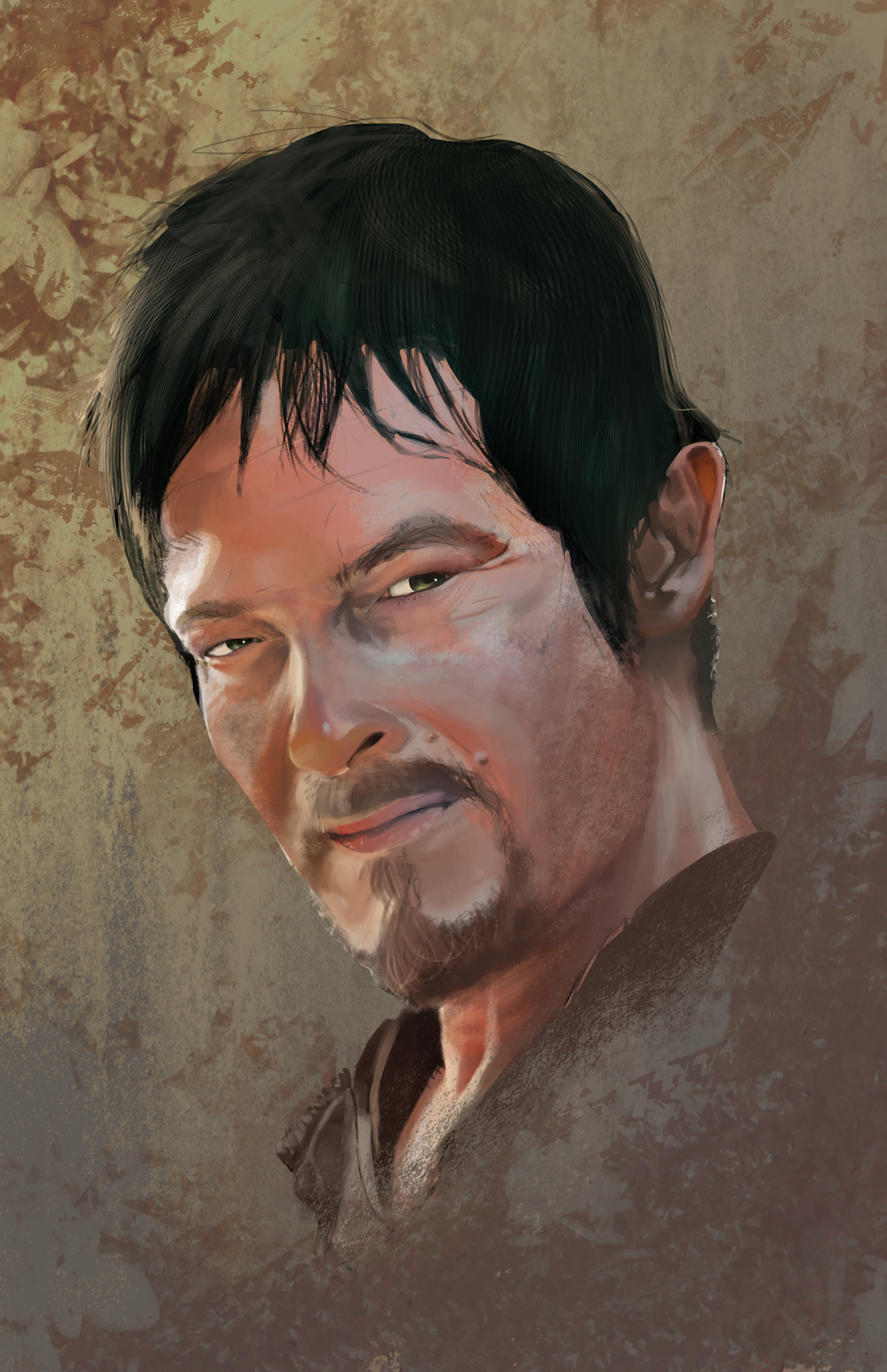 Daryl Dixon Portrait by HueTwo
