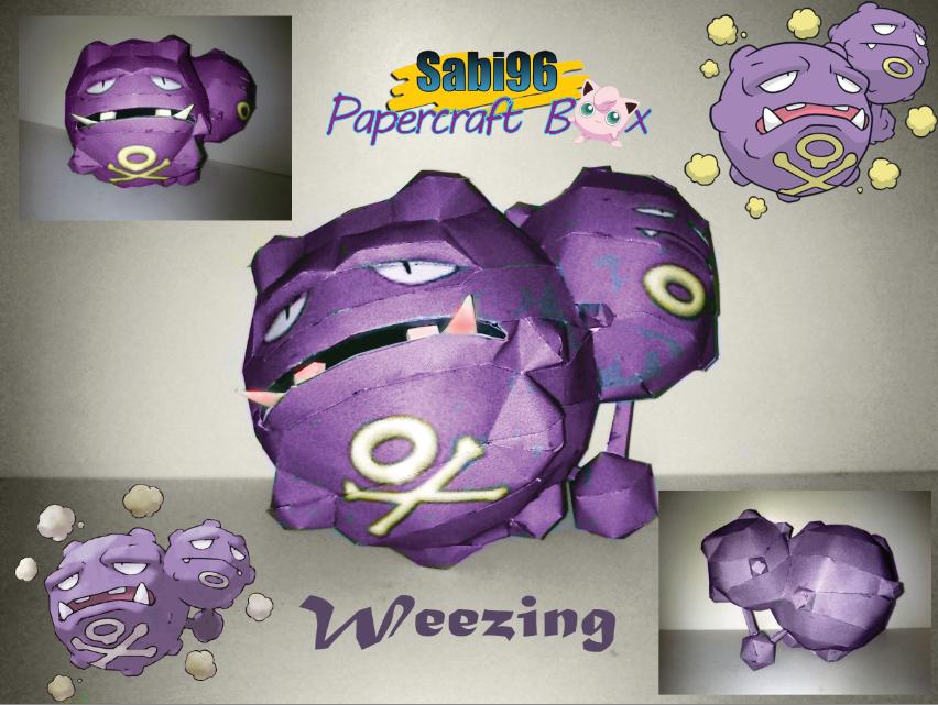 Weezing Papercraft by Sabi996