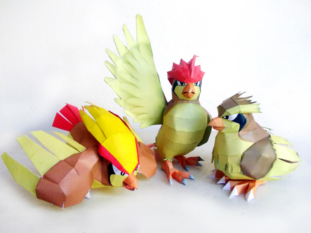 Pidgey Family Papercraft by Sabi996