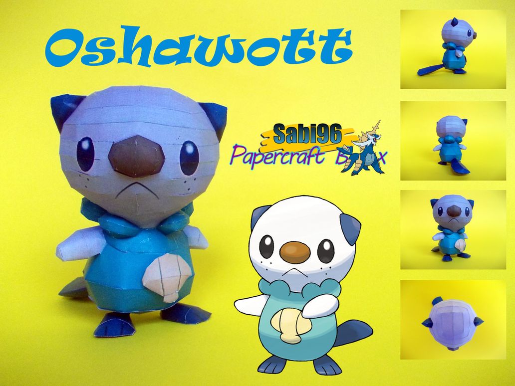 Oshawott Papercraft by Sabi996