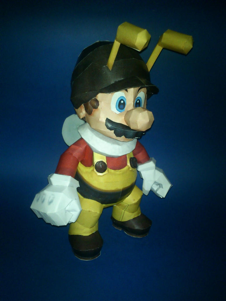 250th Deviantion Special - Bee Mario Papercraft by Sabi996