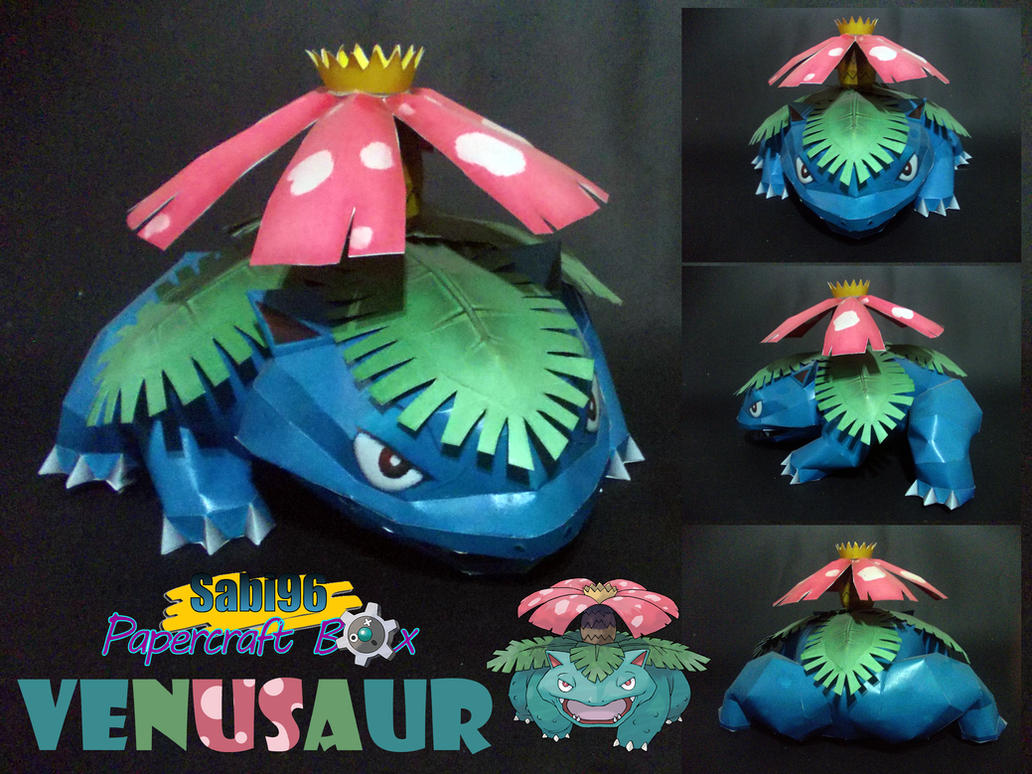 Venusaur Papercraft by Sabi996