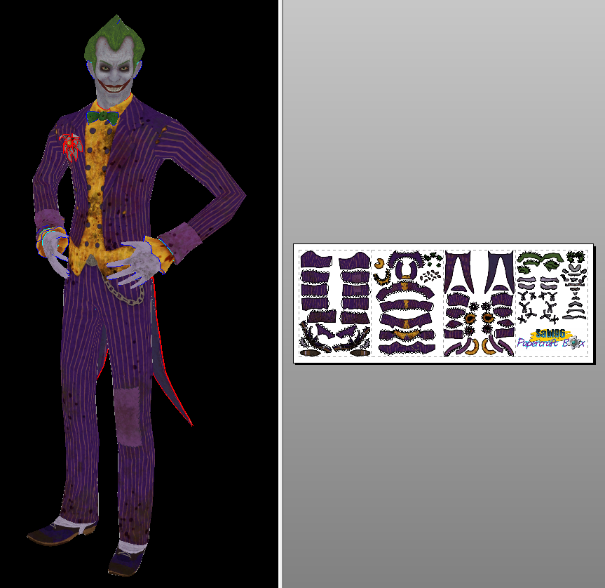 how to make joker with paper folding