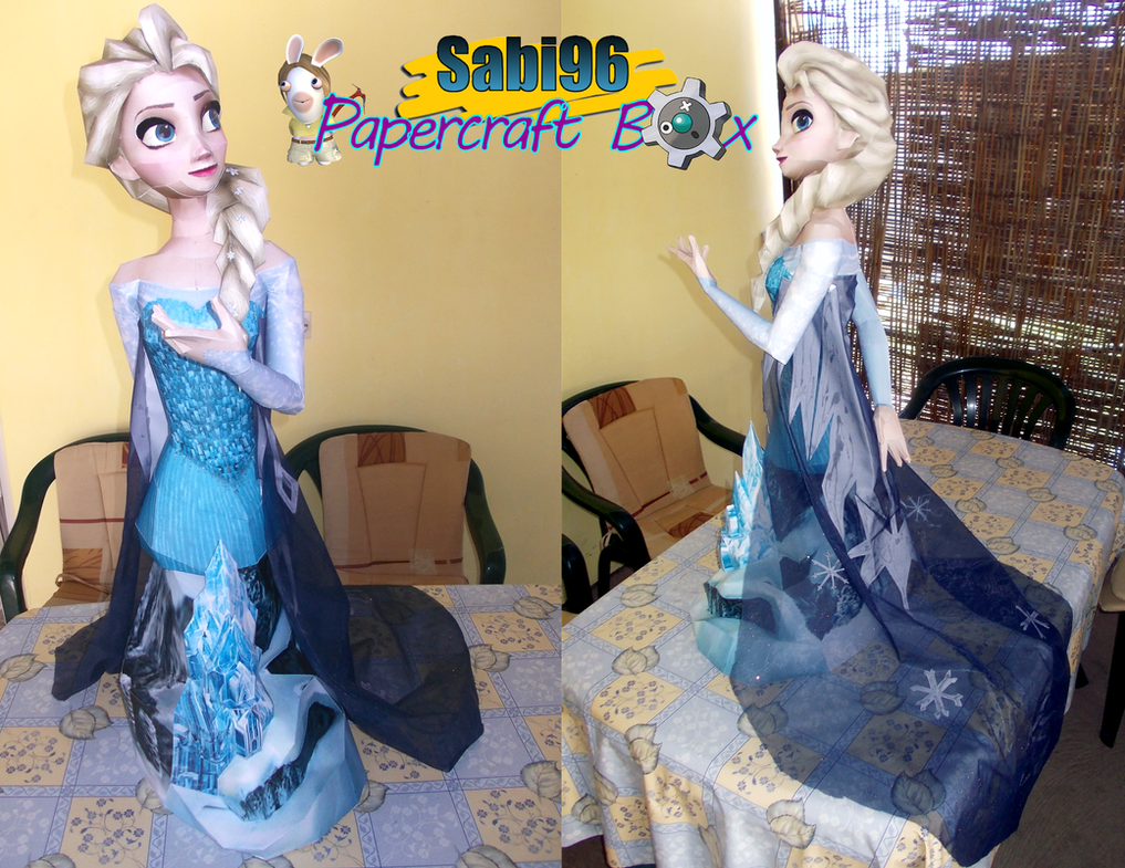 Elsa Bust 1m Papercraft by Sabi996