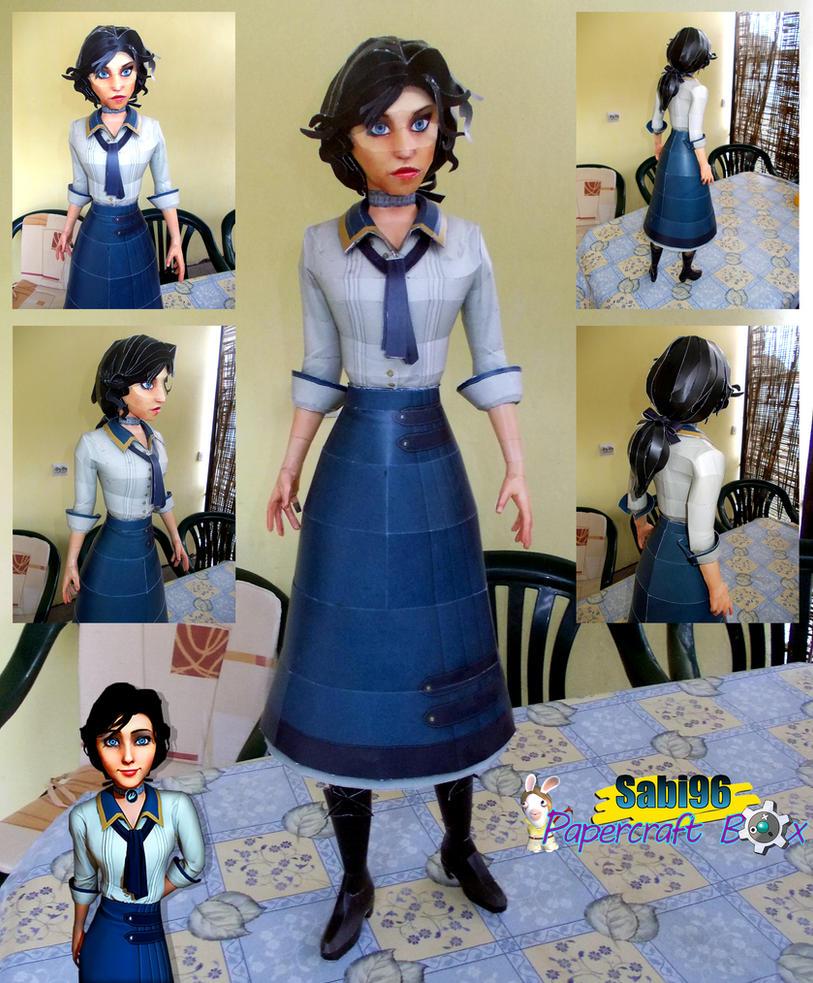 Elizabeth (Bioshock Infinite) Papercraft by Sabi996