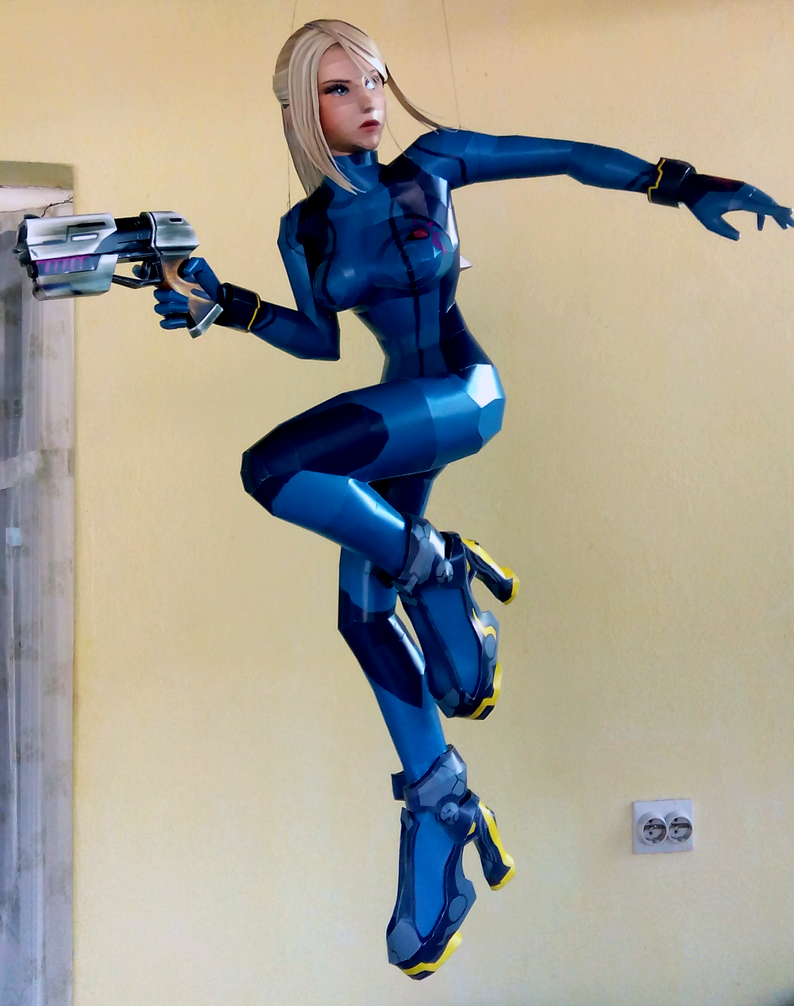 Zero Suit Samus (SSB4) Papercraft by Sabi996