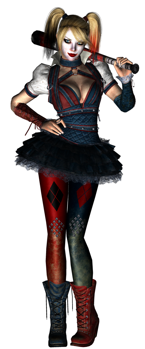 Harley Quinn (Arkham Knight) Pre-Papercraft Render by Sabi996