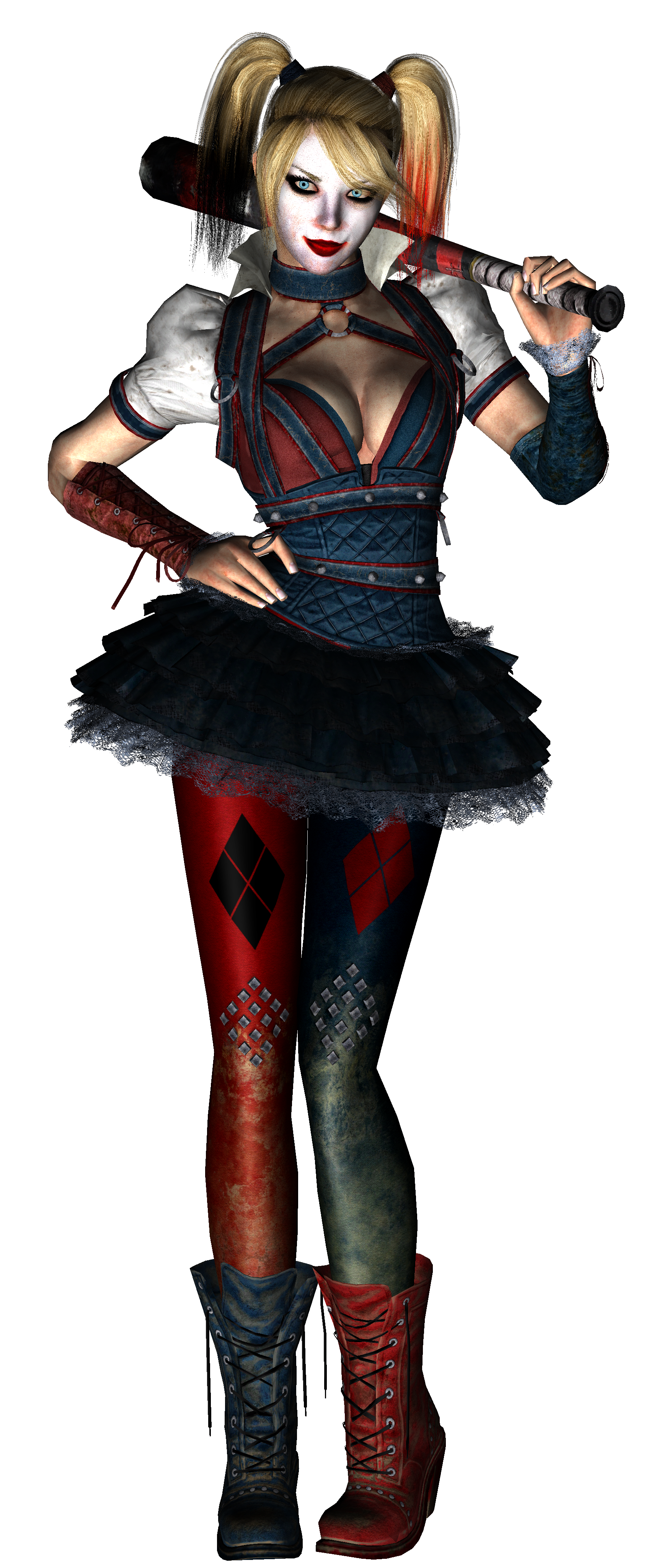 Harley Quinn Arkham Knight Pre Papercraft Render By