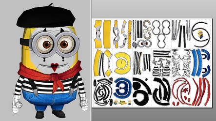 Mime Minion Papercraft Update + Unfold Info by Sabi996